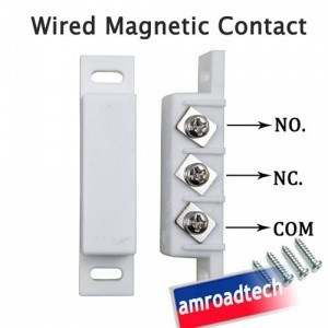 Wired Magnetic Door Window Contact Magnetic Sensor for Alarm System W