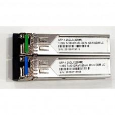 SFP Fiber Optical Transceiver 1.25G Modules SC (Pair)